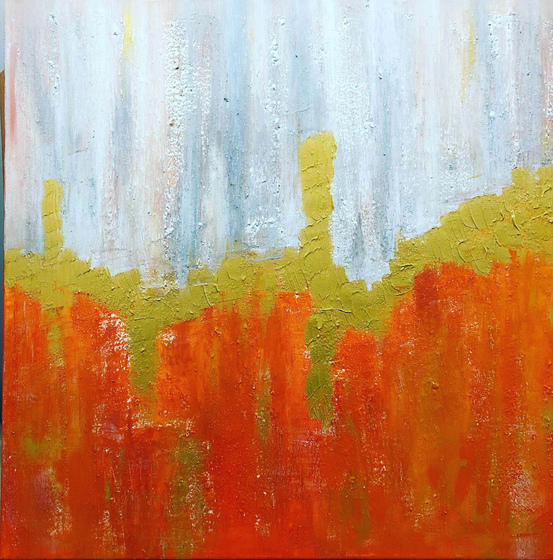 Nouvelle création orange avec matière